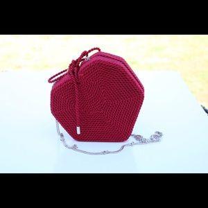 Zara heart cross body bag
